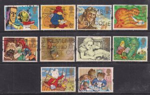 GB 1994 QE2 Greetings. Messages set of 10 used stamps ( F1456 )