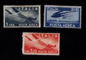 ITALY Sc C106-C108 Air Post MH F-VF