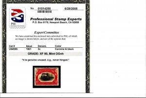 294-299 Mint,OG,NH... PSE graded 90 XF... SMQ $2,335.00... All are graded 90 XF