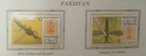 L) 1962 PAKISTAN, MALARIA ERRADICATION, WHO EMBLEM AND MOSQUITO, XF
