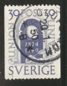 SWEDEN Scott 413 Used 1949 UPU stamp