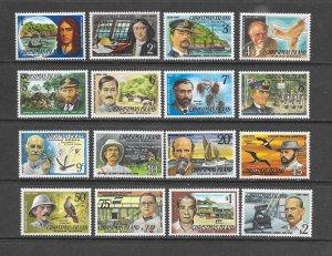 CHRISTMAS ISLAND #69-84  FAMOUS VISITORS  MNH