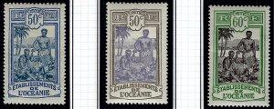 French Polynesia Sc #43-45 Mint VF...Polynesia is Unique!