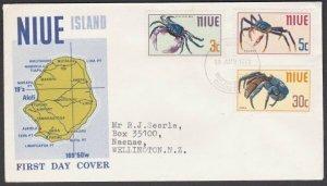 NIUE 1970 Crabs - commem FDC ...............................................J623