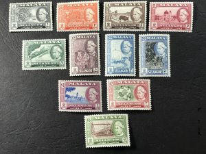 MALAYA/SELANGOR # 102-112-MINT NEVER/HINGED-----COMPLETE SET----1957-60