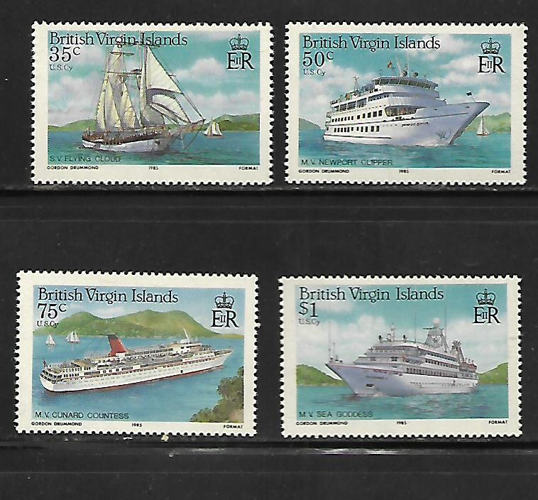 BRITISH VIRGIN ISLANDS, 524-527, MNH, CRUISE SHIPS