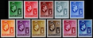 British Virgin Islands Scott 76-86 (1938-47) Mint H VF CV $42.40 M
