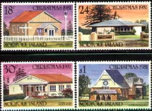 Norfolk Islands MNH 283-6 Christmas Churches 1981