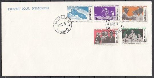 Congo, Dem., Scott cat. 698-702. Apollo 11 Astronauts issue. First day cover.