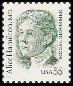 US 2940 Great Americans Alice Hamilton 55c single (1 stamp) MNH 1995
