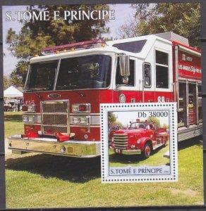 2003 Sao Tome and Principe 2288/B461 Cars / historic fire engines 11,00 €