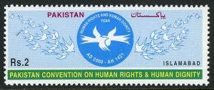 Pakistan 946, MNH. Convention on Human Rights and Dignity. Doves, 2000