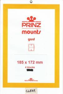 PRINZ CLEAR MOUNTS 185X172 (4) RETAIL PRICE $10.50