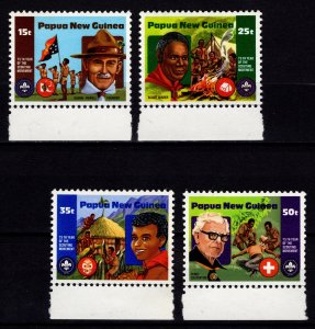 Papua New Guinea 1981 75th Anniv of Boy Scout Movement, Marginal Set [Mint]