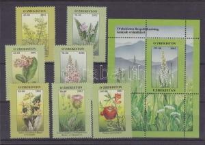 Uzbekistan stamp Flowers + block MNH 2002 Mi 434-440 + 32 WS119724