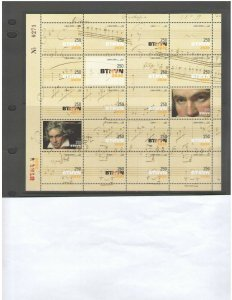 LEBANON: 2020-NI-13  /** BEETHOVEN **/ Sheet of 20 with Folder/ MNH-2 Images