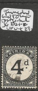 Trinidad & Tobago Postage Due SG D21 VFU (4cum)