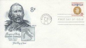 1960, 8c Giuseppe Garibaldi, Artmaster, FDC (E8639)