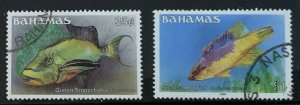 BAHAMAS 1986 FISH 35Cents and $1 SG764A SG769B FINE USED