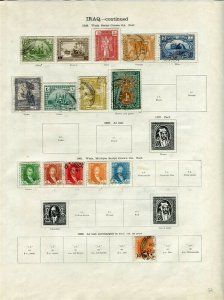 IRAQ; 1923-34 early Faisal issues fine mint & used LOT on pages