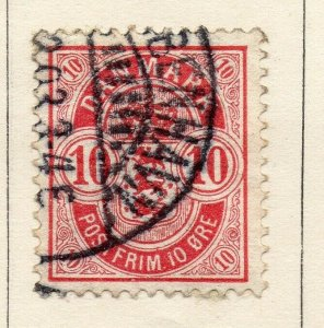Denmark 1875 Early Issue Fine Used 10ore. NW-113853