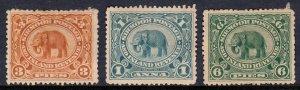 India (Sirmoor) - Scott #11//13 - MH - Faults - SCV $13.05