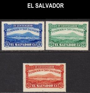 El Salvador Scott 507-09 complete set F to VF mint OG HR.