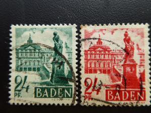 Allied Occupation of Germany 1948   Sc.# 5N8 & 5N22  CV $0.60