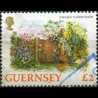 GUERNSEY 1993 - Scott# 496 FLowers-Garden pound 2 Used