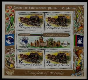 Lesotho 451 MNH m/s Coach/Animals
