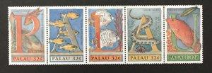 Palau 1996 #388 Strip of 5, Wonders of Palau, MNH.