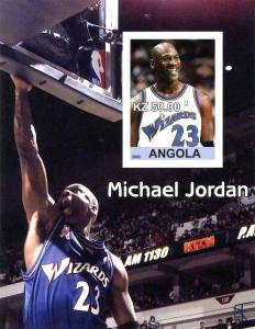 ANGOLA SHEET MNH IMPERF BASKETBALL SPORTS JORDAN