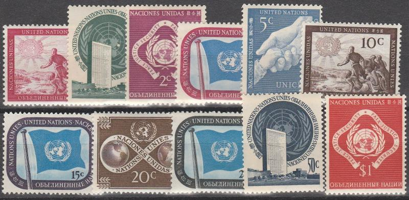 United Nations #1-11 MNH  CV $8.80  (A6606)