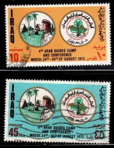 IRAQ Scott 666-667 Used  stamps