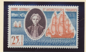 French Southern and Antarctic Territories Stamp Scott #20, Mint Hinged - Free...