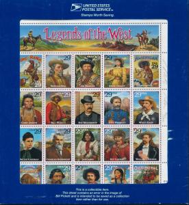 #2870 LEGENDS OF THE WEST (RECALLED) ORIG ENV. SIGNED BY ENGRAVER 36/5000 HV4578