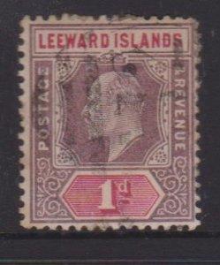 Leeward Islands Sc#21 Used Postmark  Cancel St Kitts