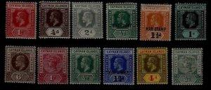 Cayman isl. 12 MH values pre-1920