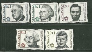 Venezuela MNH 1151-5 US Presidents