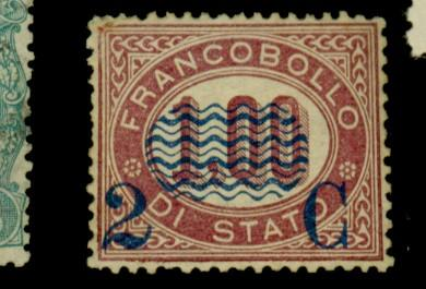 Italy #41 MINT F-VF OG HR Cpl sht perfs Cat$650