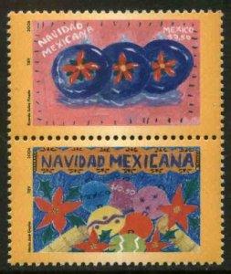 MEXICO 2537a, CHRISTMAS SEASON PAIR, 2009. MINT NH. VF.