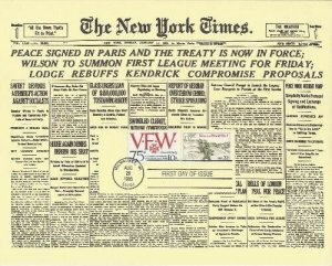 2154 22c VETERANS WORLD WAR I - NY Times combo