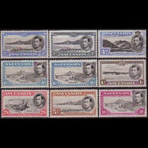 ASCENSION 1938 - Scott# 44-49a Views 3p-5s LH