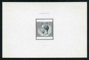 CYPRUS 1912 KGV type 12 Keyplate MASTER DIE PROOF Very Rare and Important