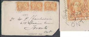 Canada #8259 - 1c(3) Jubilees on a front only - Thunderbay District - Savanne