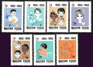 Hungary 1532-1538, MNH. Intl. Red Cross Cent. Girls & Boys of 3 races,1963