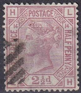 Great Britain #67 Plate 14 F-VF Used CV $60.00 Z41