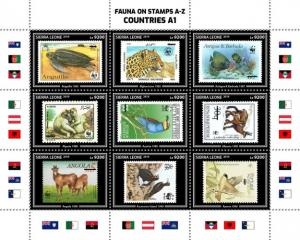 SIERRA LEONE - 2019 - Stamps of Stamps #1 - Perf 9v Sheet - MNH
