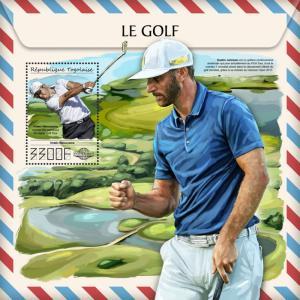 Z08 IMPERF TG17515b Togo 2017 Golf MNH ** Postfrisch