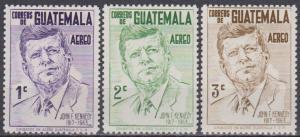 Guatemala #C299-301  MNH F-VF CV $3.30 (B2816)